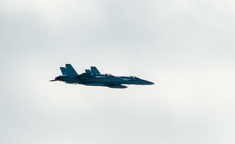 Pair of F/A-18C's Over Owl Creek - Virginia Beach, VA