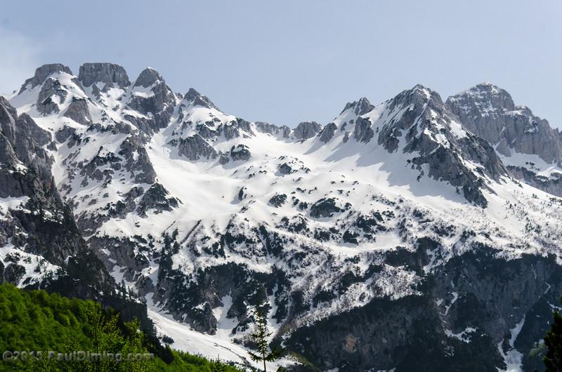Snow Covered Mountains @ Valbona Valley National Park, Valbona, Albania