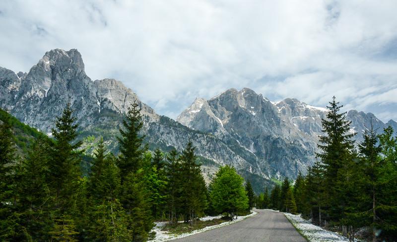 Mountains Along Rruga Azem Hajdari - Valbona, Albania