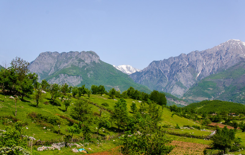 Two Ridges in the Albanian Alps from Rruga Azem Hajdari - Tropoje, Albania