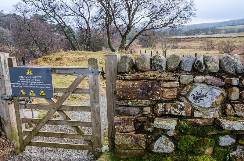 Fence & Stone Carving - Newbiggin - Barnard Castle, England, UK