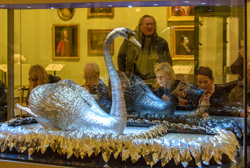 Silver Swan automaton (John Joseph Merlin & James Cox) c. 1773 @ The Bowes Museum - Barnard Castle, England, UK