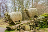 Sheep Sculptures (Right) by Keith Alexander c. 2002 @ Low Force - Newbiggin - Barnard Castle, England, UK