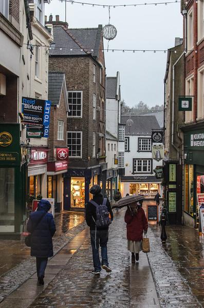 Silver Street in Rain - Durham, England, UK