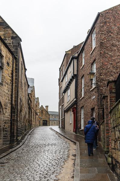 Owengate Street looking up toward Palace Green - Durham, England, UK