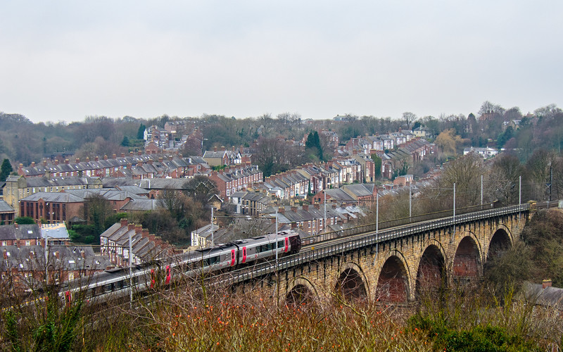 North Road Railway Viaduct (aka Durham Viaduct) c. 1857 - Durham, England, UK