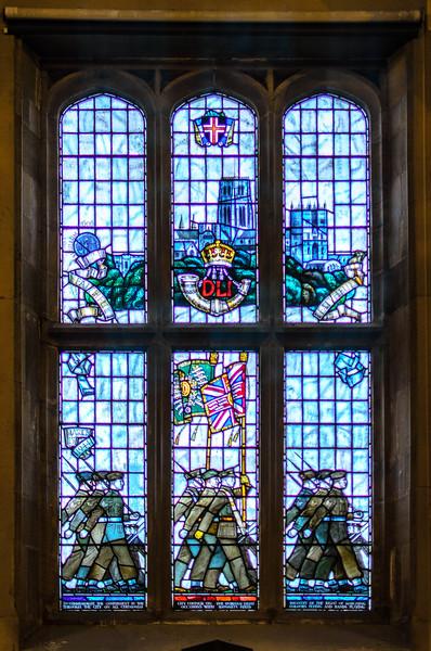 Durham Light Infantry Window @ Durham Town Hall - Durham, England, UK
