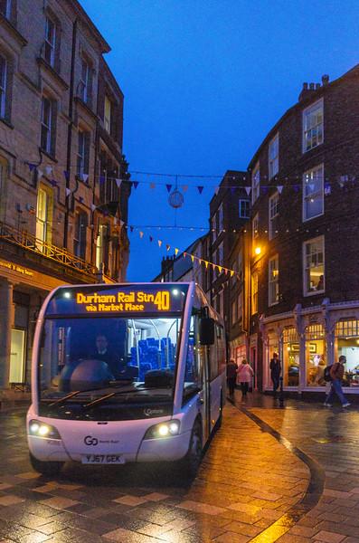 Bus 40 to Durham Rail Station @ Durham Market Place - Durham, England, UK