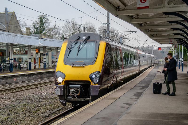 CrossCountry train arriving @ Durham Railway Station - Durham, England, UK