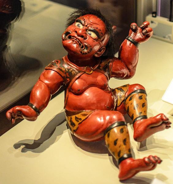 Oni Figure, Japan @ Durham University Library on loan from Durham University Oriental Museum - Durham, England, UK