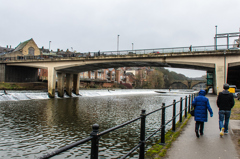 Walking along the River Wear near Leezes Bridge - Durham, England, UK