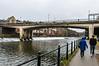 Walking along the River Wear near Leezes Bridge - Durham, England, UK