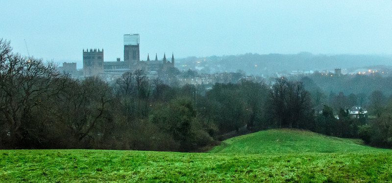Durham Cathedral 2 from Observatory Hill- Durham, England, UK