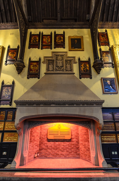 Jacobean Chimney & Overmantel in the Main Hall @ Durham Town Hall - Durham, England, UK