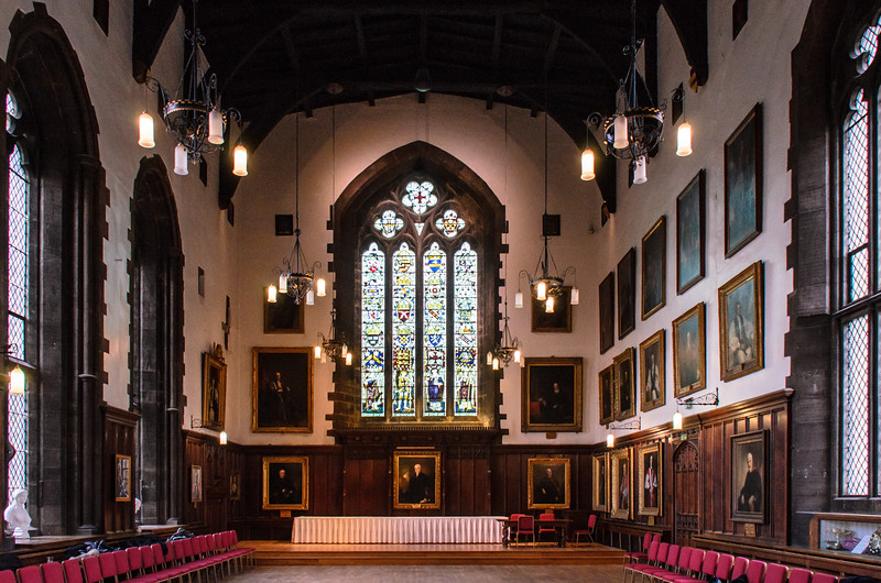Great Hall of Durham Castle - Durham, England, UK