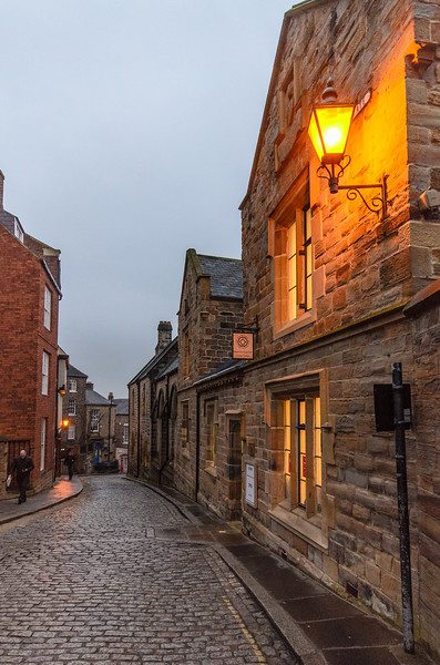 Owengate Street at Night - Durham, England, UK