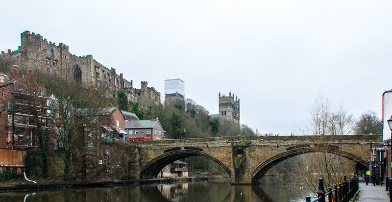 Framwelgate Bridge & Durham Gastle & Cathedral - Durham, England, UK