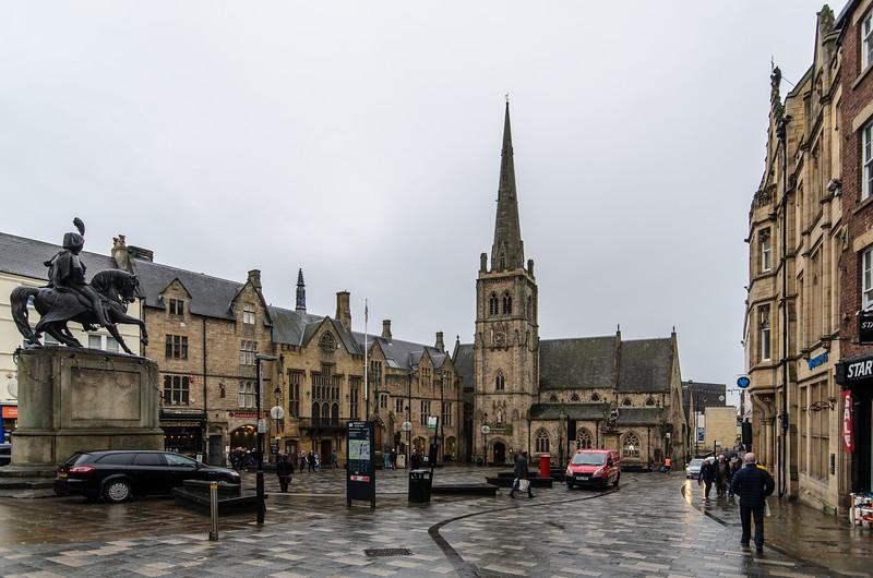 Durham Market Place - Durham, England, UK