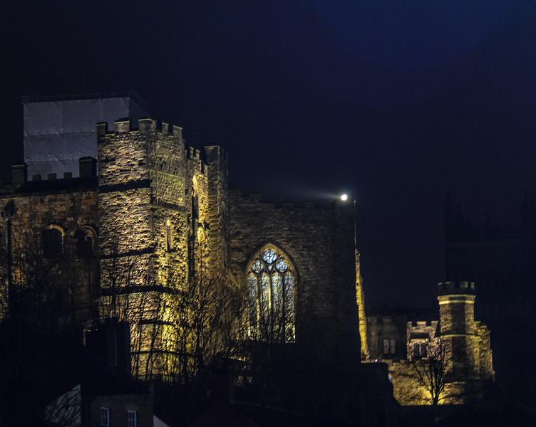 Durham Castle at Night - Durham, England, UK