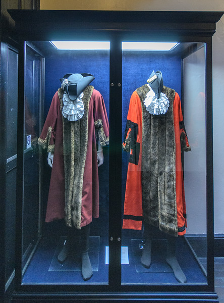 Ceremonial Costumes - Deputy Mayor & Mayor Robes @ Durham Town Hall - Durham, England, UK