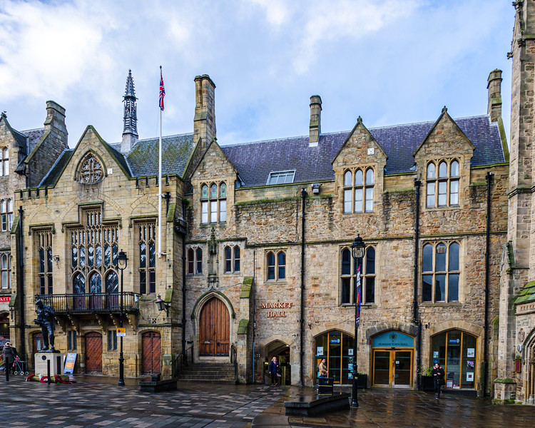 Market Hall & Town Hall c. 1850-1851 (P. C. Hardwick) inspired by Westminster Hall, London  @ Durham Market Place - Durham, England, UK