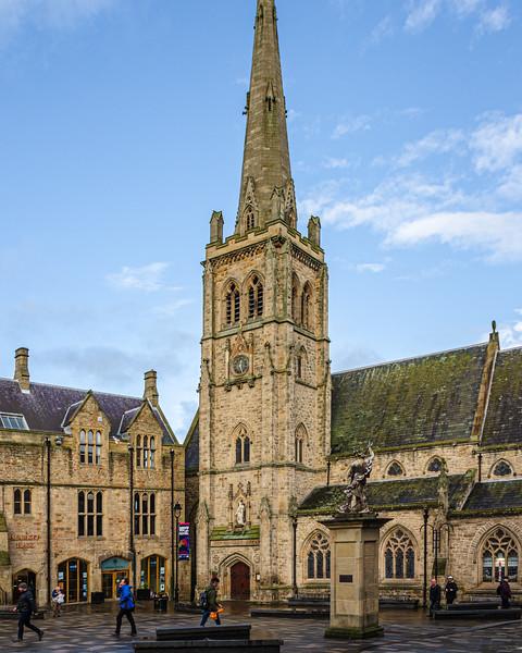 St Nicholas' Church (St Nic's) c. 1858 @ Durham Market Place - Durham, England, UK