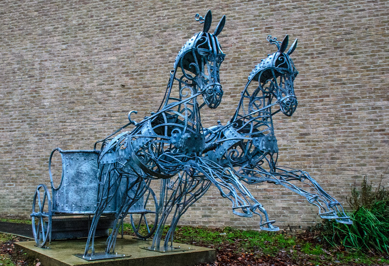 Vision of an ancient chariot (David Freedman) c. 2016@ Durham University - Durham, England, UK