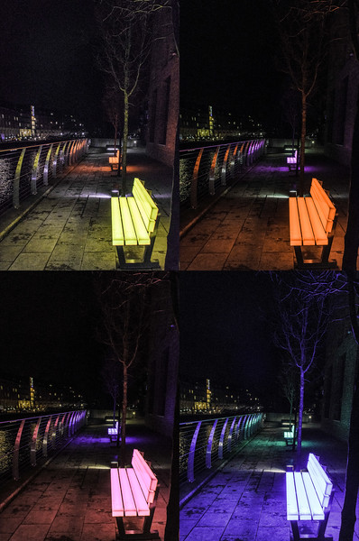 Durham Lightbench from Lumiere 2015 (Bernd Spicker, LBO LichtBankObjekte) @Freeman's Quay - Durham, England, UK