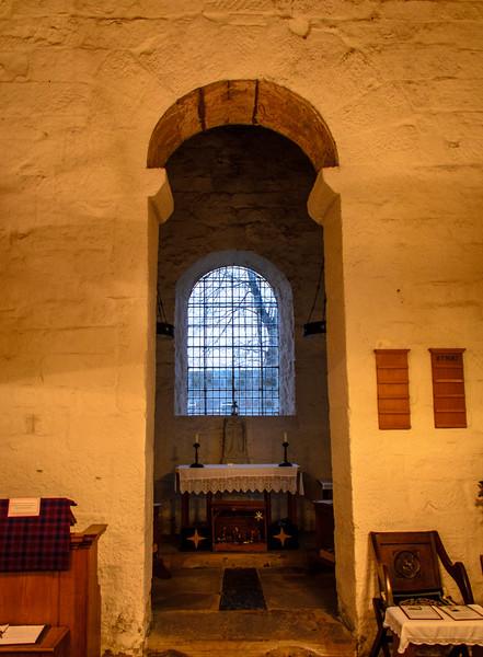 Cancel Arch from Roman Vinovia (Binchester) @ Escomb Saxon Church - Escomb village near Bishop Auckland, England, UK