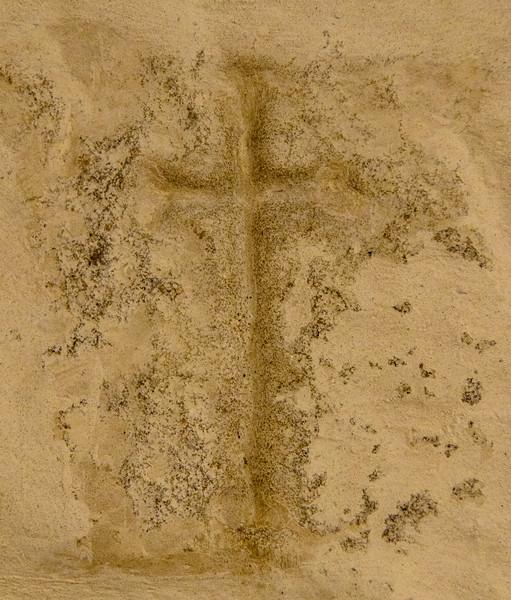 Consecration Cross @ Escomb Saxon Church - Escomb village near Bishop Auckland, England, UK