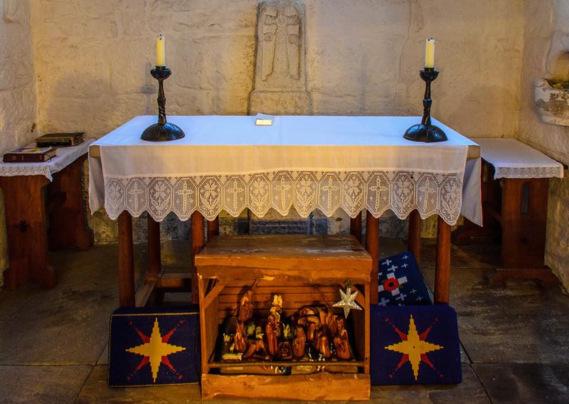Altar c. 1960's @ Escomb Saxon Church - Escomb village near Bishop Auckland, England, UK
