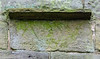 "6th Legion Roman Inscription reads ""LEG VI"" upside down @ Escomb Saxon Church - Escomb village near Bishop Auckland, England, UK"