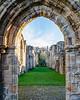 Looking into Church through Door @ Finchale Priory - Framwellgate Moor, County Durham, England, UK