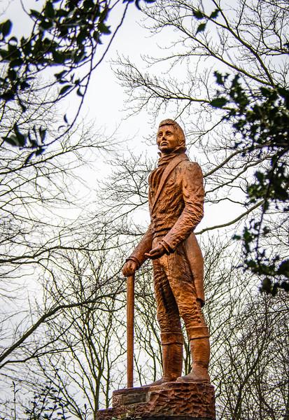 Oak Statue of William Lloyd Wharton by Tommy Craggs c. 2015 @ Wharton Park - Durham, England, UK