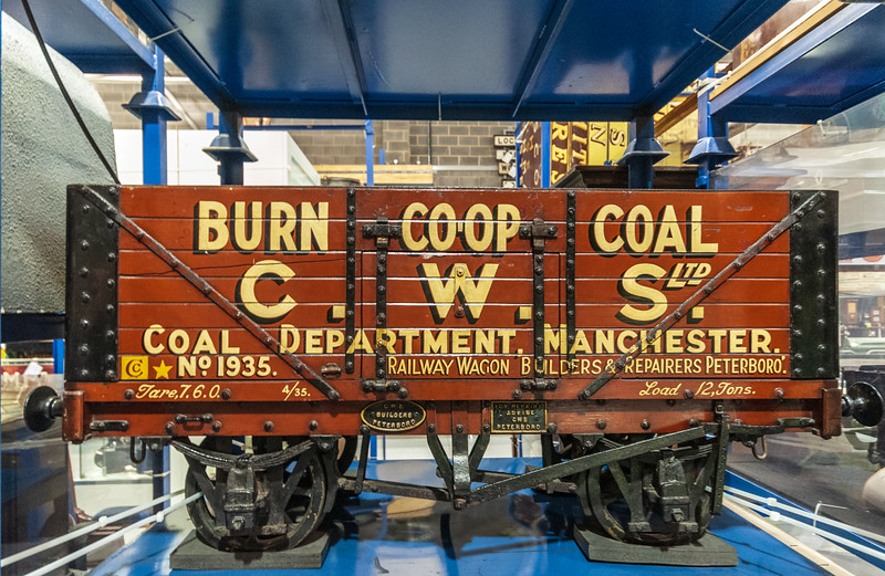 Model of a Burn Co-Op Coal Wagon @ National Railway Museum - York, England, UK