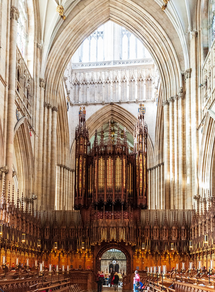 1832 Grand Organ on the choir screen (@ York Minster - York, England, UK