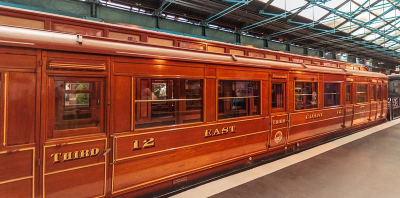 East Coast Joint Stock, 3rd Class railway carriage, 1898 (railway carriage) @ National Railway Museum - York, England, UK