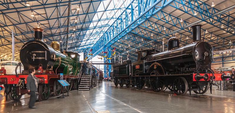 No. 737 c. 1901 (L) &  No. 790 Hardwicke c. 1873 (R) @ National Railway Museum - York, England, UK