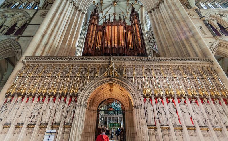 15th Century Kings screen & organ @ York Minster - York, England, UK