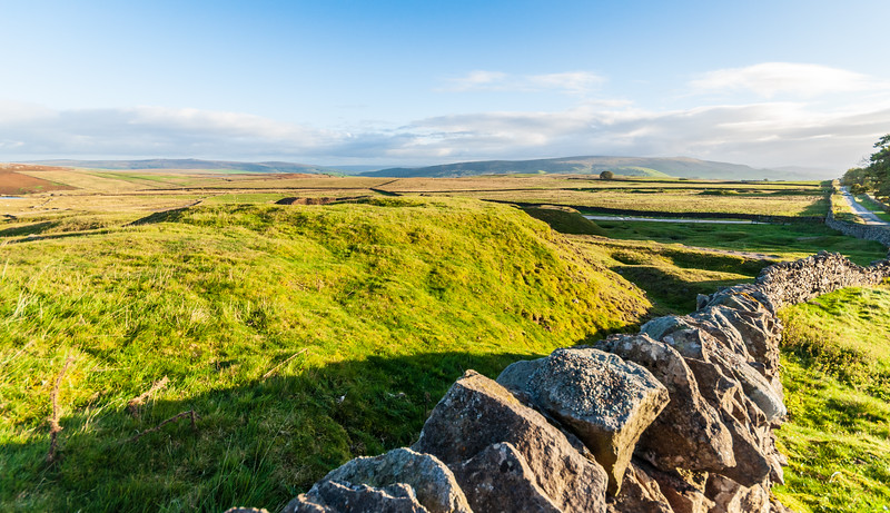 Rock Wall - Yarnbury, Grassington, Craven, North Yorkshire, England, UK
