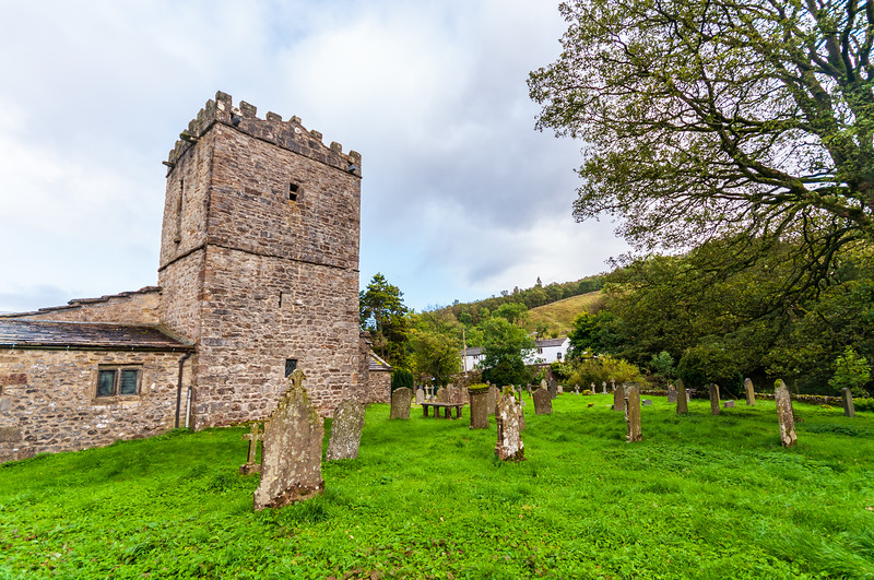 Graveyard @ St. Michael and All Angels Church in Hubberholme - Buckden, Craven, North Yorkshire, England, UK