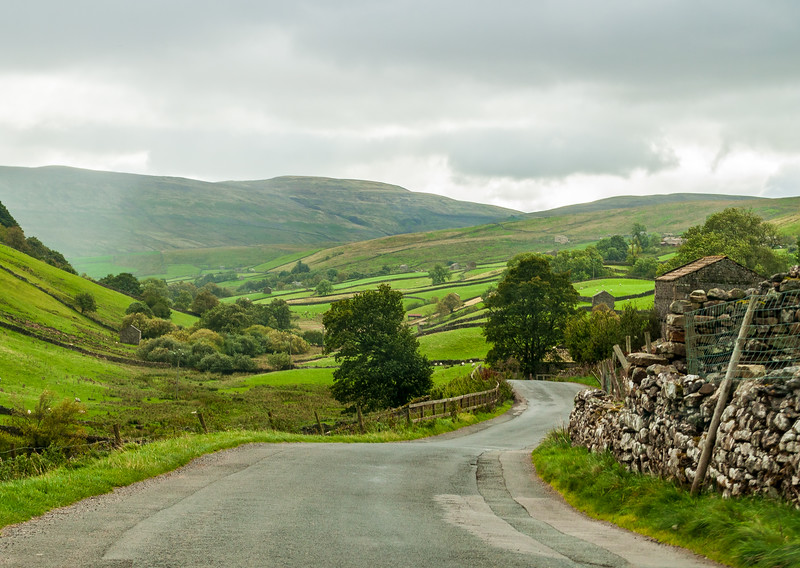 Butthouse Rigg (B6270) in Keld - Muker, North Yorkshire, England, UK