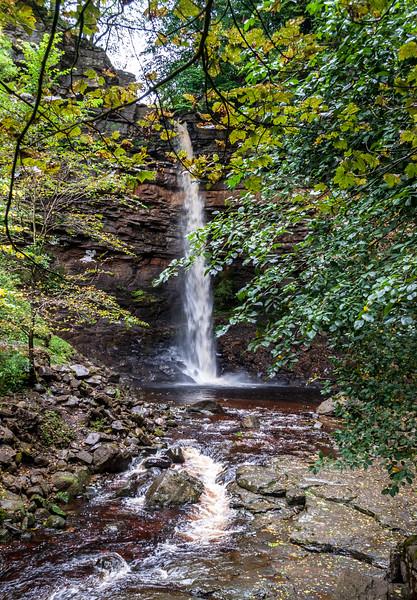 Hardraw Force downtream - Hardraw, Hawes, Wensleydale, North Yorkshire, England, UK