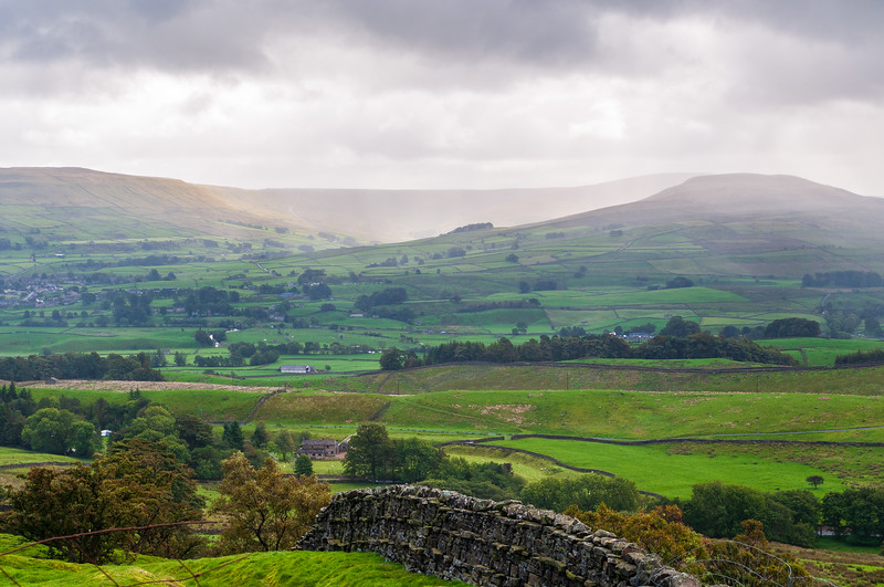 Fossdale from Cliffgate Rd - Hawes, Wensleydale, North Yorkshire, England, UK