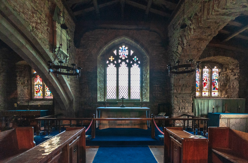 Chancel, Transept, & Altar @ St. Michael and All Angels Church in Hubberholme - Buckden, Craven, North Yorkshire, England, UK