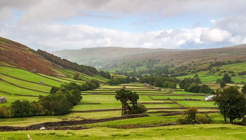Valley in Thwaite - Muker, North Yorkshire, England, UK