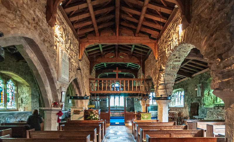 Nave @ St. Michael and All Angels Church in Hubberholme - Buckden, Craven, North Yorkshire, England, UK