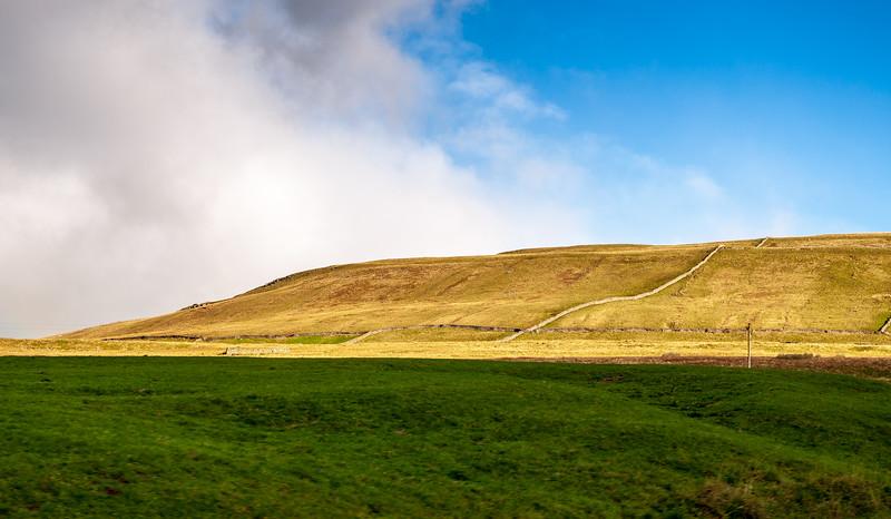 Hill along Beggarmans Rd - Hawes, Wensleydale, North Yorkshire, England, UK
