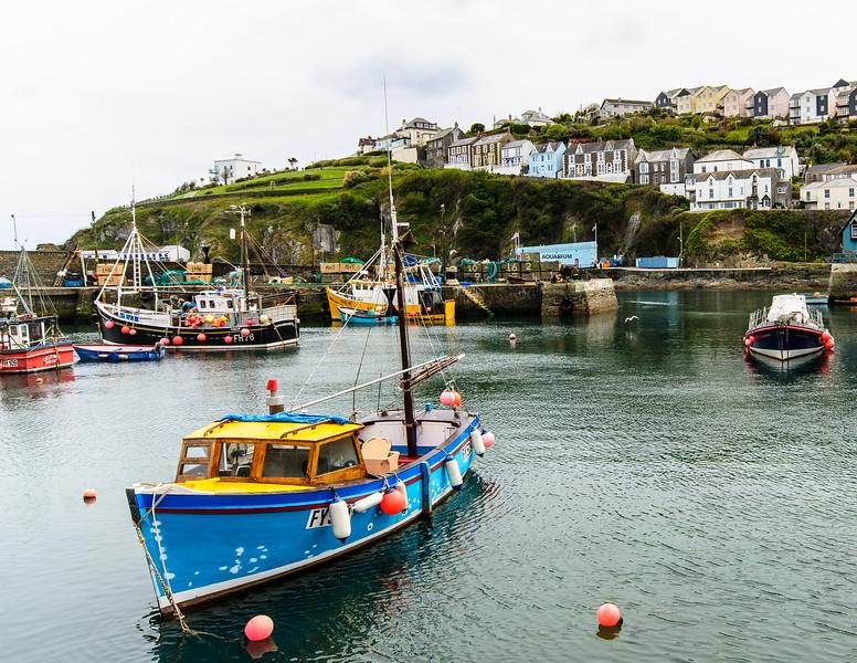 Inner Harbour Fishing Boat - Megavissey, Cornwall, England, UK