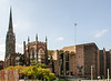 The Old and the New: 2nd & Third Coventry Cathedrals (aka St. Michael's Cathedral) - Coventry, England, UK